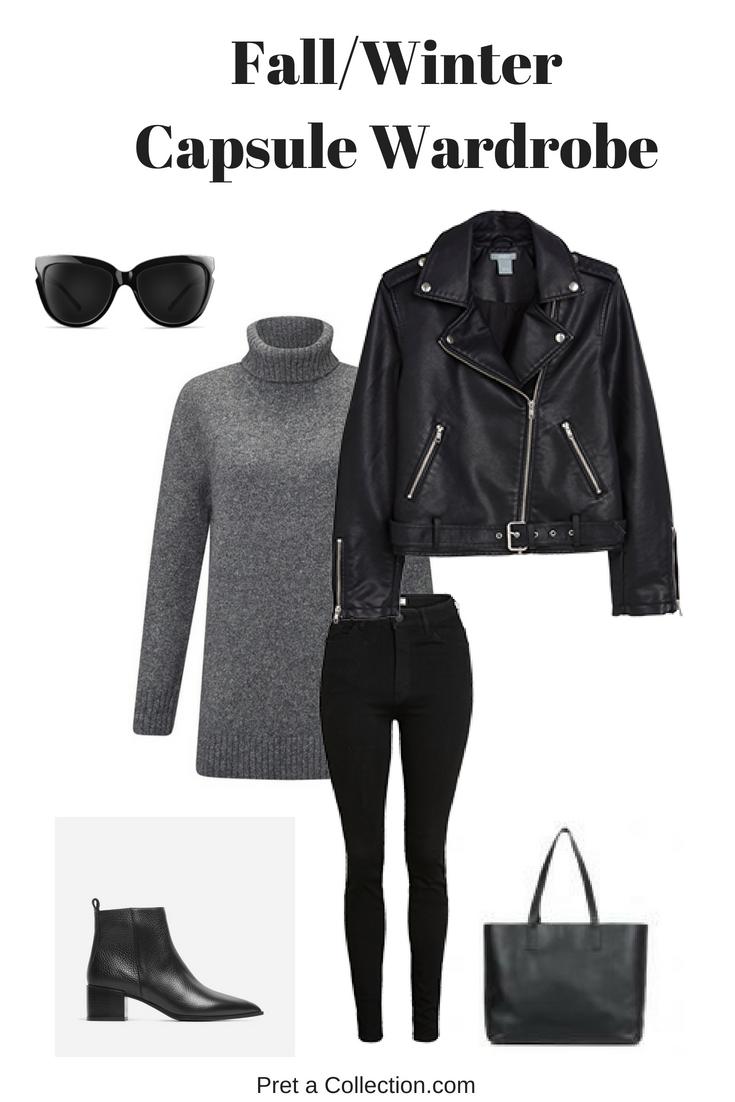 Fall/winter capsule wardrobe outfit