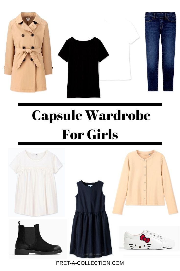 Capsule wardrobe for girls