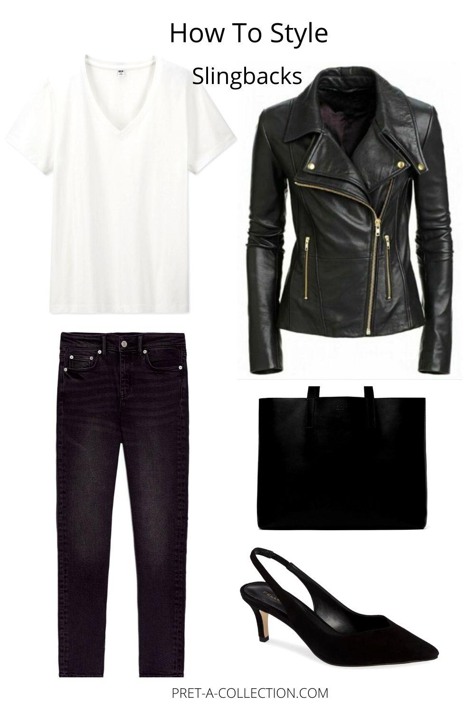 How to style slingbacks